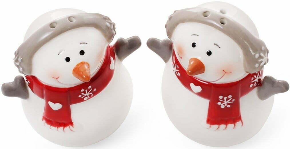Набор для специй Снеговик солонка и перечница 7,7 см BonaDi 834-185 купить на сайте Биол шоп