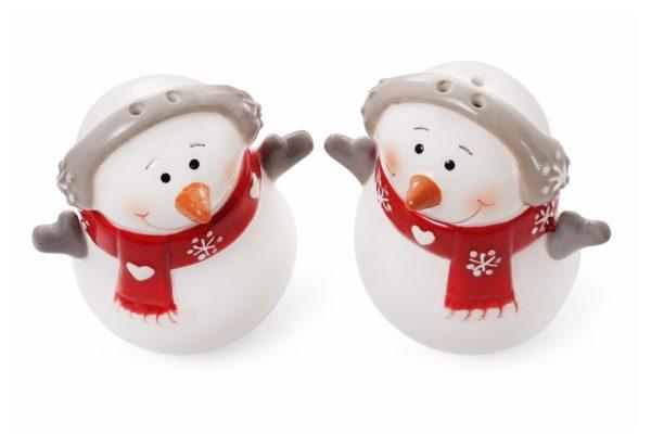 Набор для специй Снеговик солонка и перечница 7,7 см BonaDi