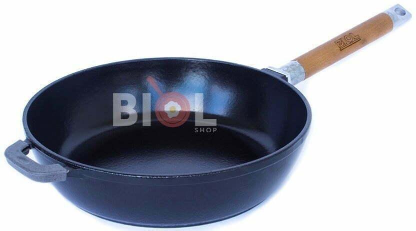 Чугунная сковорода с эмалированным покрытием Биол 24 см 0324Э купить недорого онлайн