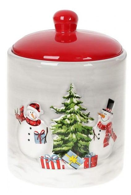 Банка Веселые снеговики 550 мл BonaDi 811-002 купить недорого онлайн