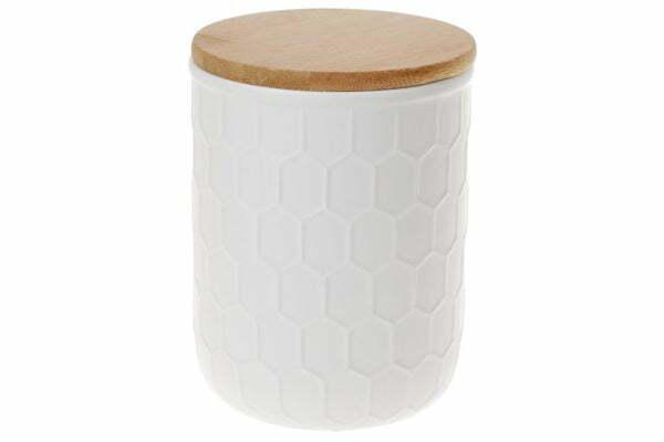 Банка керамическая 450 мл Naturel BonaDi с бамбуковой крышкой Соты 304-938