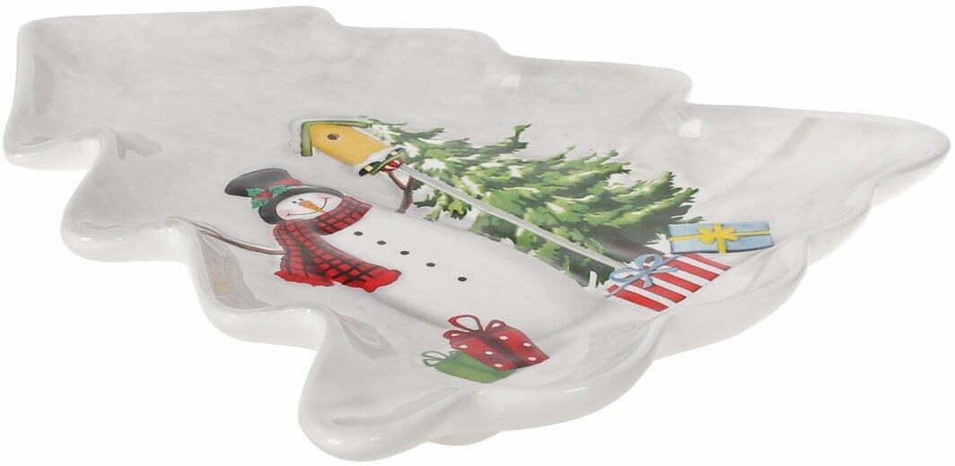 Блюдо керамическое Веселые снеговики 21,5х20,5 см BonaDi 811-005 купить в Одессе