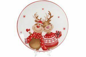 Новогодние тарелки и пиалы