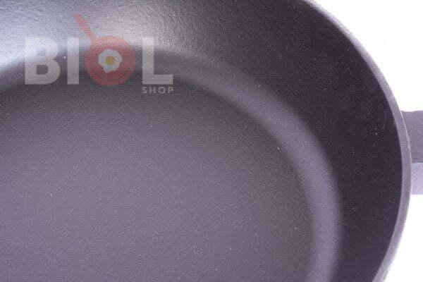 Сковорода чугун Биол матовое эмалированное покрытие с крышкой 0328ЕС
