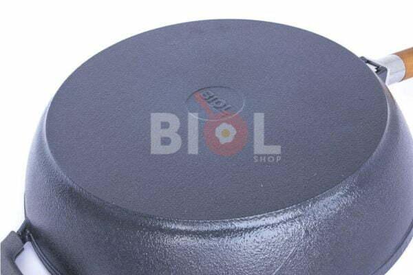 Сковорода чугунная Биол 26 см с матовым покрытием снаружи глянцевое