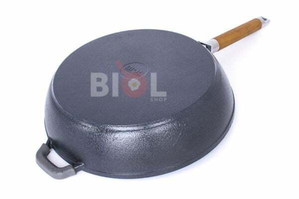 Сковорода чугунная Биол с матовым покрытием снаружи глянцевое