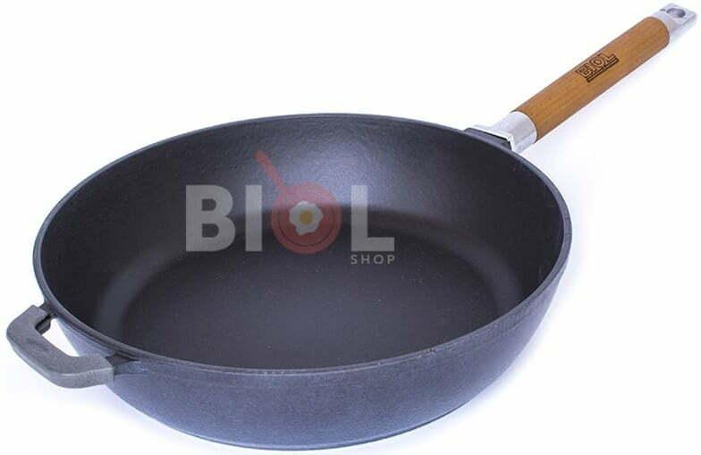 Чугунная сковорода Биол снаружи глянцевое покрытие Классик купить недорого онлайн
