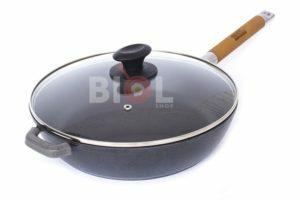 Сковорода чугун Биол Классик 28 см снаружи глянцевое покрытие
