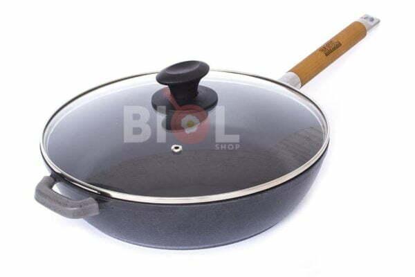 Сковорода чугун Биол Классик снаружи глянцевое покрытие