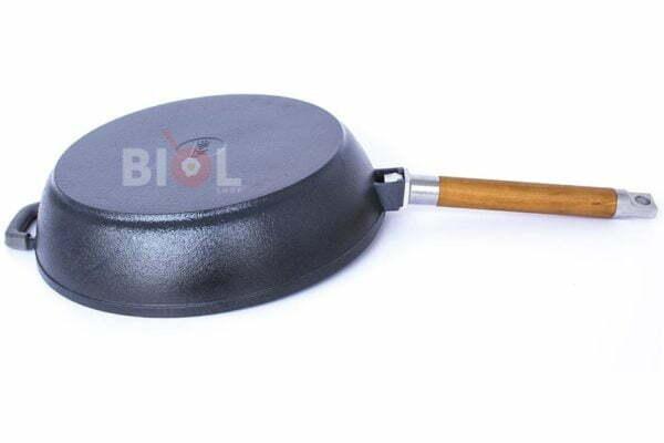 Чугунная сковорода Биол матовая снаружи глянцевое покрытие 28 см