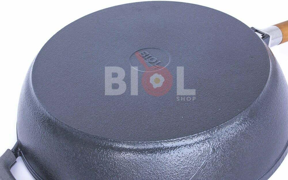 Сковорода чугунная Биол 26 см с матовым покрытием снаружи глянцевое 03265Е купить в Одессе
