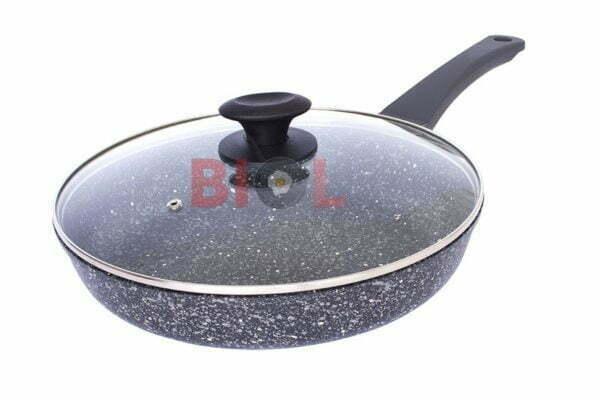 Сковорода ELITE антипригарная с крышкой Биол 22 см 2216Л