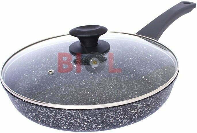 Сковорода ELITE антипригарная с крышкой Биол 24 см 2416П купить по выгодной цене