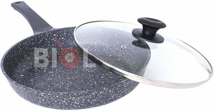 Сковорода ELITE антипригарная с крышкой Биол 24 см 2416П купить на сайте Биолшоп