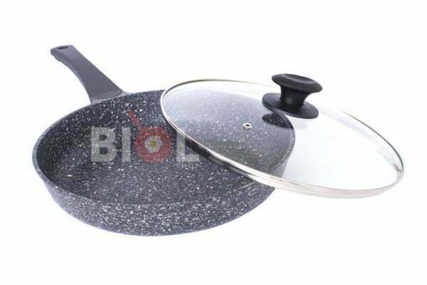 Сковорода ELITE антипригарная с крышкой Биол 22 см