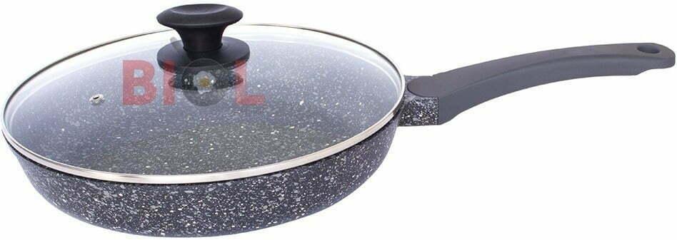 Сковорода ELITE антипригарная с крышкой Биол 24 см 2416П низкая цена