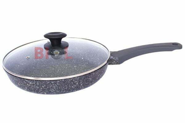 Сковорода ELITE антипригарная с крышкой Биол 24 см