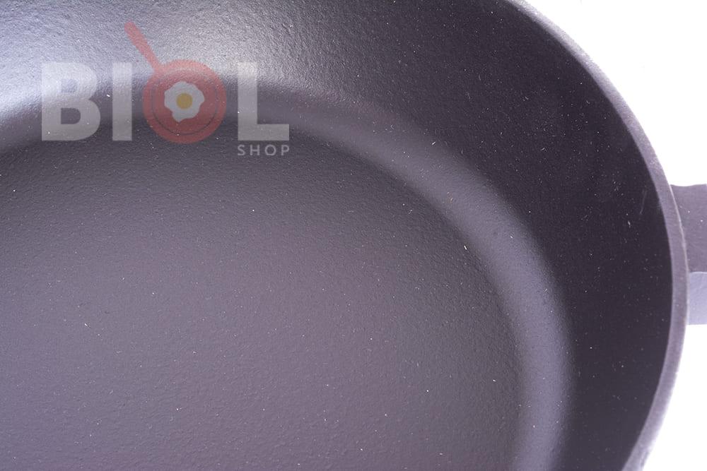 Сковорода чугун Биол матовое эмалированное покрытие с крышкой 28 см 0328ЕС купить в Одессе