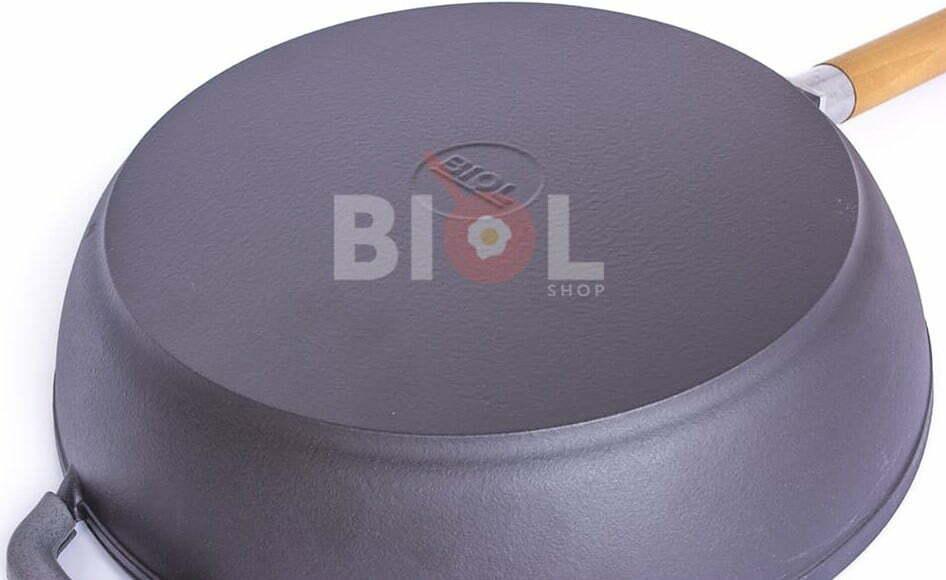 Сковорода чугун Биол матовое эмалированное покрытие с крышкой 28 см 0328ЕС отзывы и видео