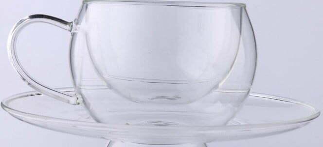 Чашка с двойным дном с блюдцем 270 мл Lessner Thermo 11304-270 купить недорого онлайн