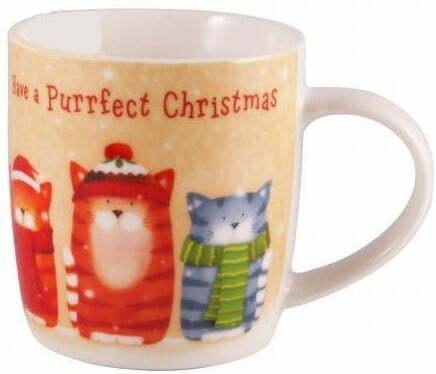 Чашка Milika 390 мл MerryChristmasPurrfect Christmas M0520-NY13 купить недорого онлайн