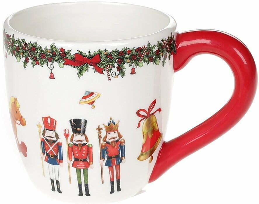 Кружка керамическая Щелкунчик 350 мл BonaDi Merry Christmas 923-228 купить недорого онлайн