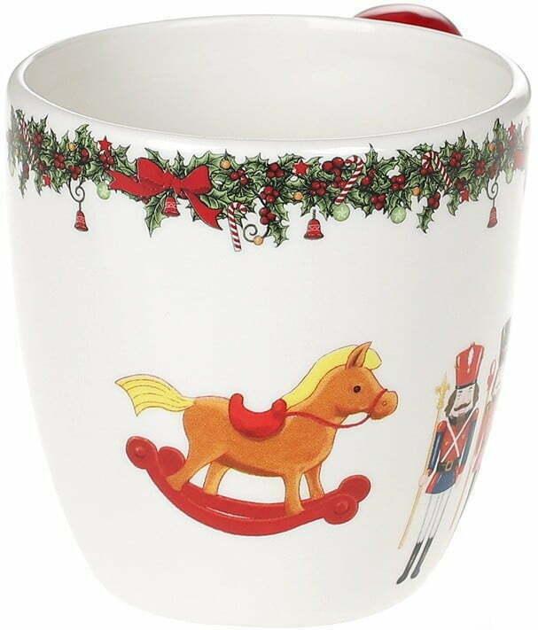 Кружка керамическая Щелкунчик 350 мл BonaDi Merry Christmas 923-228 купить в Харькове