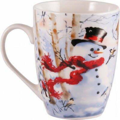 Чашка из фарфора Happy Snowman 360 мл Milika M0520-NY14 купить недорого онлайн