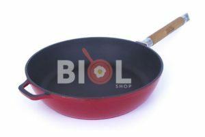 Сковорода Биол Эмаль чугунная 28 см купить дешево