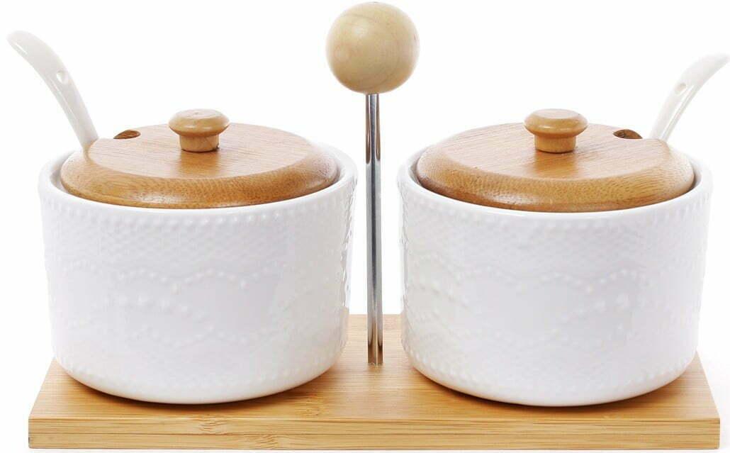Набор сахарниц BonaDi 375 мл с ложками на подставке Naturel 289-293 купить недорого онлайн