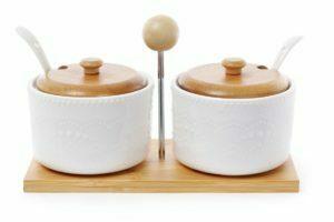 Набор сахарниц BonaDi 375 мл с ложками на подставке 289-293