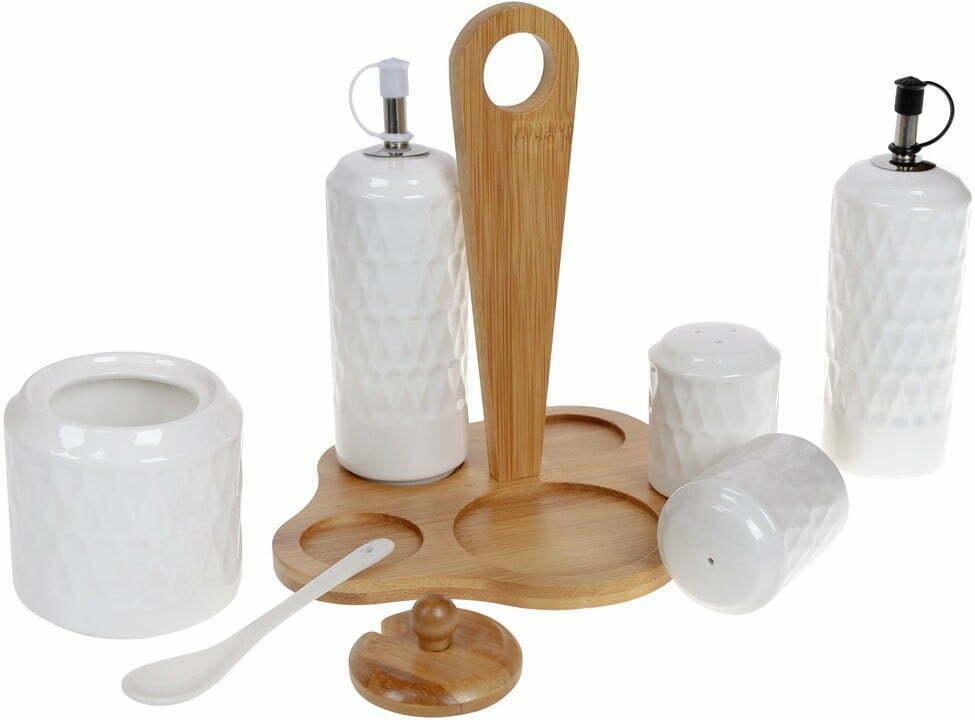 Набор для специй на бамбуковой подставке BonaDi Naturel 289-344 купить в Харькове
