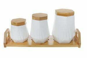 Набор банок BonaDi для сыпучих продуктов на подставке купить