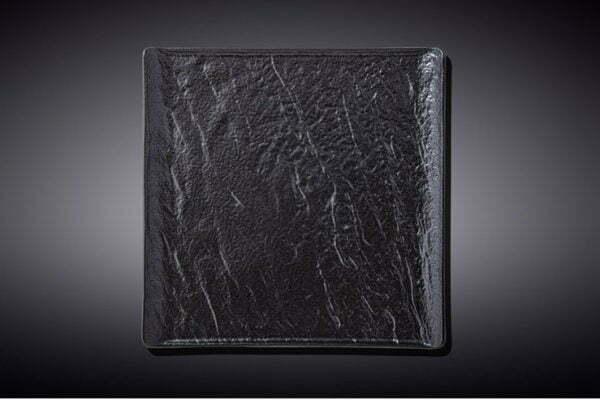 Тарелка квадратная Slatestone Black 17х17 см WL-661105 / A