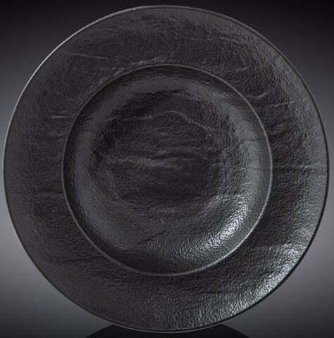Тарелка глубокая Wilmax Slatestone Black 25,5 см WL-661130 / A купить недорого онлайн