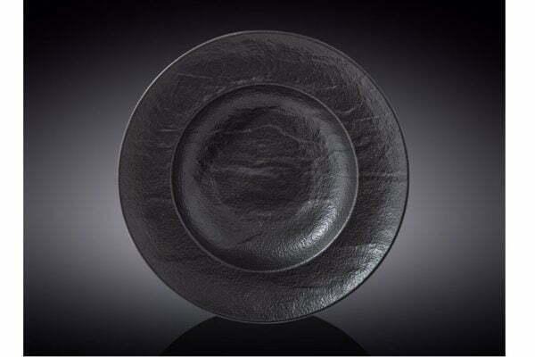 Тарелка глубокая Wilmax Slatestone Black 25,5 см WL-661130 / A