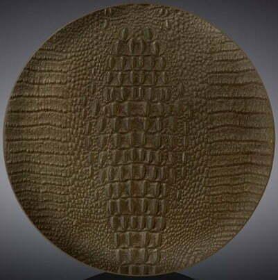 Тарелка десертная Wilmax Scroco Bronze 20,5 см WL-662204 / A купить недорого онлайн