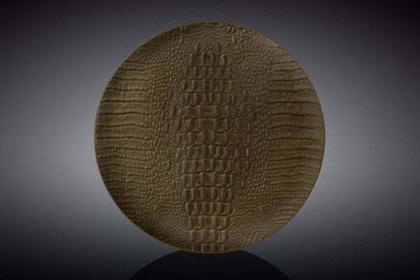 Тарелка десертная Wilmax Scroco Bronze 20,5 см WL-662204 / A
