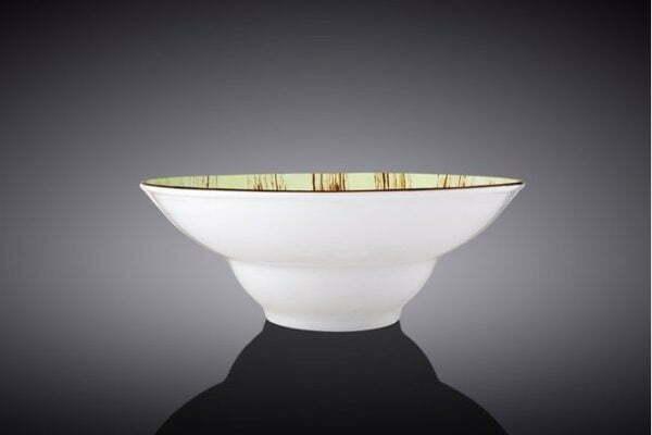 Тарелка глубокая Wilmax Scratch Pistachio 20 см недорогая цена на сайте