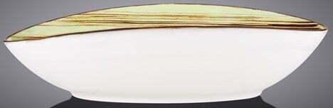 Блюдо овальное глубокое Wilmax Scratch Pistachio 25х16,5х6 см WL-668140 / A купить в Харькове