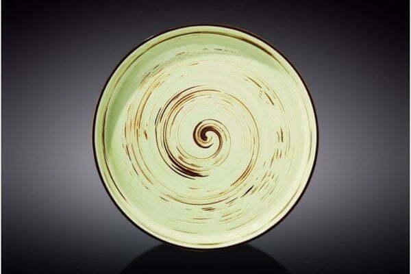 Тарелка обеденная Wilmax Spiral Pistachio 23 см WL-669119