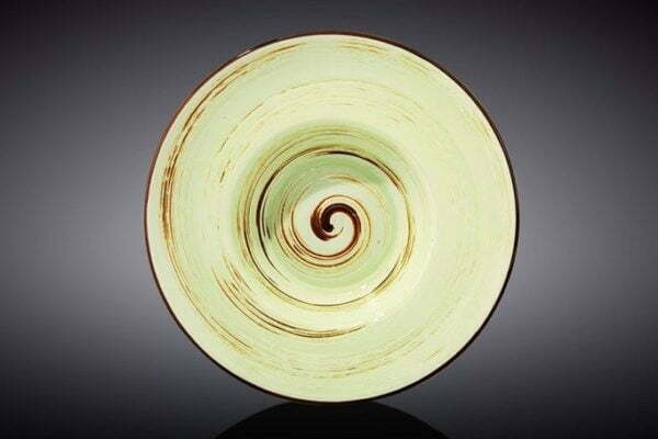 Тарелка глубокая Wilmax Spiral Pistachio 800 мл WL-669122 / A