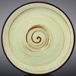 Блюдце Wilmax Spiral Pistachio 12 см WL-669134 / B купить недорого онлайн