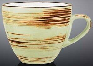Чашка чайная Wilmax Spiral Pistachio 190 мл WL-669135 / A купить недорого онлайн