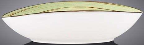 Блюдо овальное Wilmax Spiral Pistachio 25х16,5х6 см WL-669140 / A купить в Одессе
