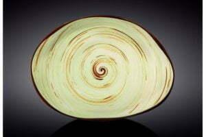 Блюдо камень Wilmax Spiral Pistachio 33х24,5 WL-669142 / A