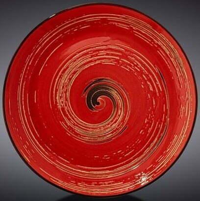 Тарелка десертная Wilmax Spiral Red 20,5 см WL-669212 / A купить недорого онлайн