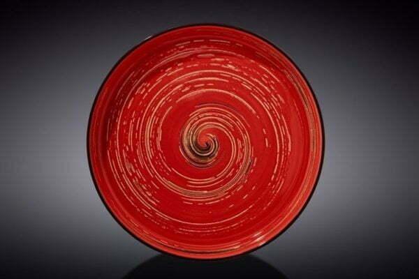 Тарелка обеденная Wilmax Spiral Red