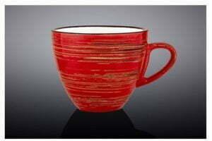 Чашка чайная Wilmax Spiral Red 190 мл низкая цена