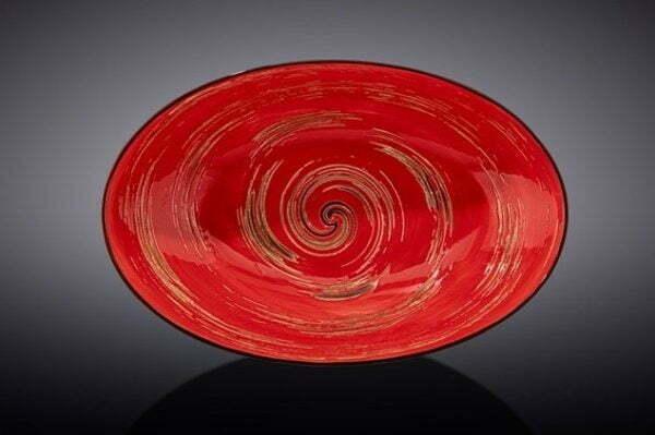 Блюдо овальное глубокое Wilmax Spiral Red 25х16,5х6 см WL-669240 / A